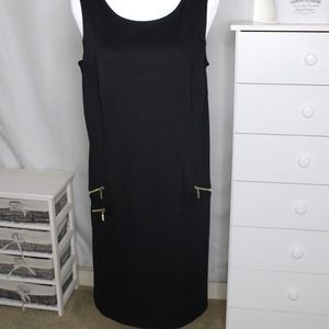Apt. 9 Slvless Sheath Dress With Zippers